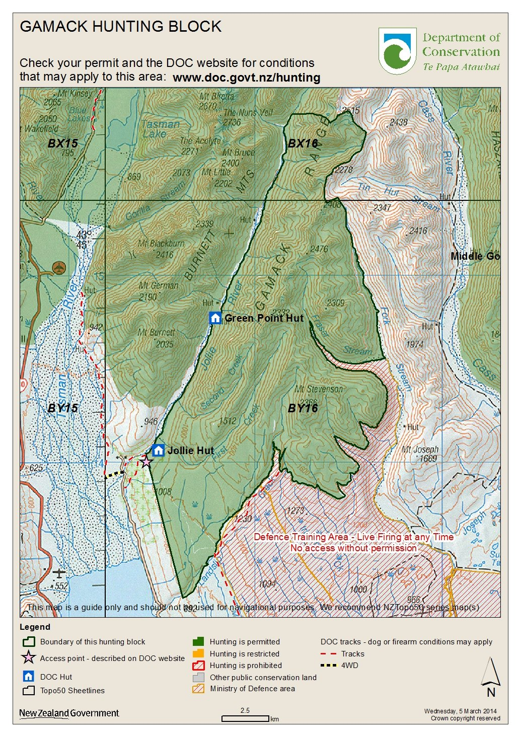gamack hunting block map (jpg k) (opens in new window) . hunting maps know before you go hunting in the mackenzie country
