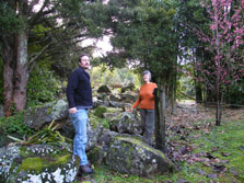 Raewyn and Ross at a Maungakaramea site cleared of kahili ginger.