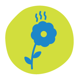 Smell nature icon.