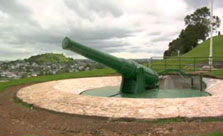 Click this image from the North Head clip to view the video. Image copyright: TVNZ.