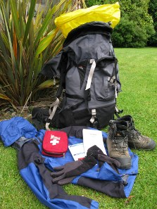 Equipment, clothing and food you need to take.