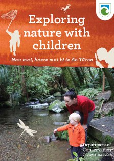 Exploring nature with children booklet cover. Photo: Adrienne Grant.