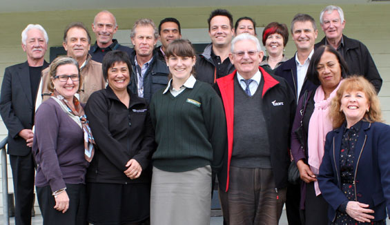 Group photo of Northland Conservation Board members and DOC staff.