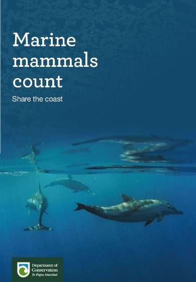 Marine mammals count poster.