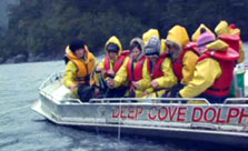 Click this image from the Camp Fiordland clip to view the video. Image copyright: TVNZ.