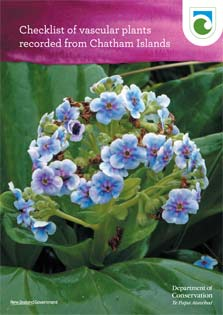 Cover of the Checklist of vascular plants recorded from the Chatham Islands.