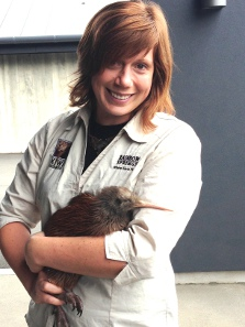 Ginger chicks: Rainbow Springs Kiwi Encounter staff member Emma Bean with Kindara the ginger kiwi.