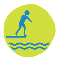 Jump into water icon.