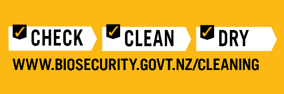 Check Clean Dry - see instructions on the Biosecurity website.