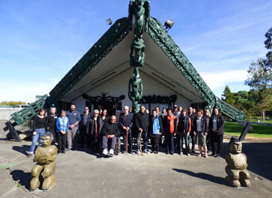 Local community members met at Matahiwi Marae for a Cape to City hui.