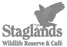 Staglands Wildlife Reserve & Café logo.
