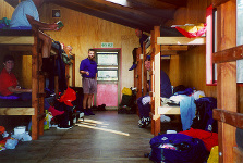 Bunkroom in Clinton Hut, Milford Track. Photo copyright: Fred Chamberlain. DOC USE ONLY.