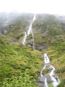 Waterfall on the Dore Pass Route.