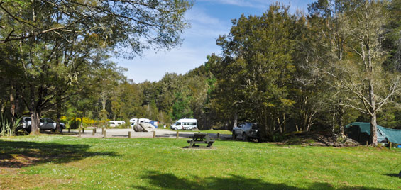 Campers at Slab Hut Creek campground.