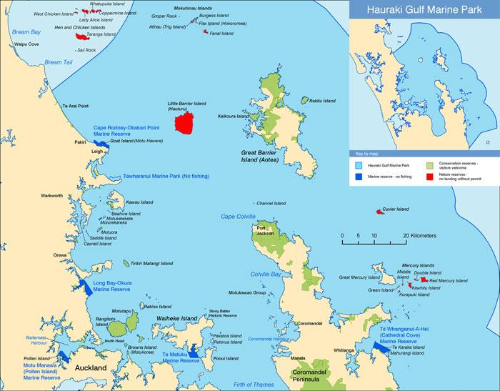 Map: Hauraki Gulf Marine Park