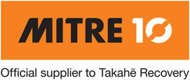 Mitre 10 - Official supplier to Takahe Recovery.
