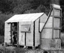 Cedar Flat Hut as built in 1957.