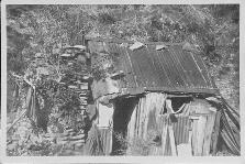 Peter Passeni Hut as it was in 1960 - the chimney still stands today at Passenis Historical Hut Site