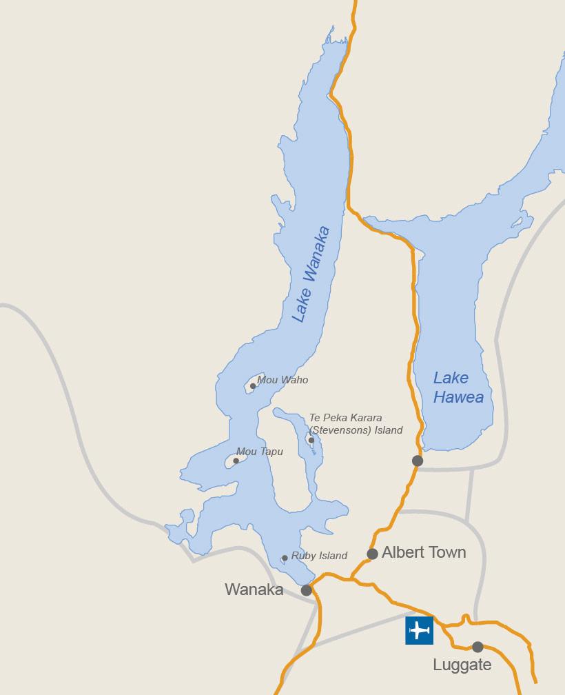 map of lake wanaka Wanaka Islands Wanaka Area map of lake wanaka