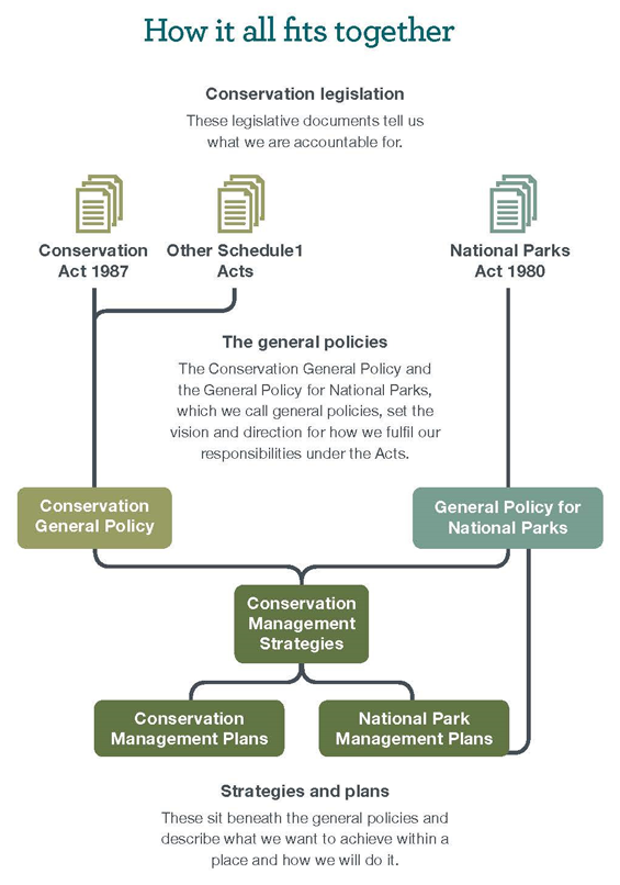 Diagram of how general policies and statutory plans fits together.