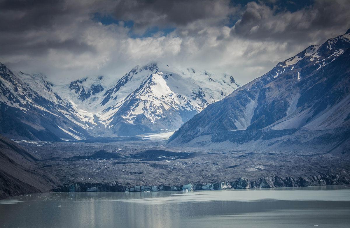 Glasbild Mount Cook Neuseeland