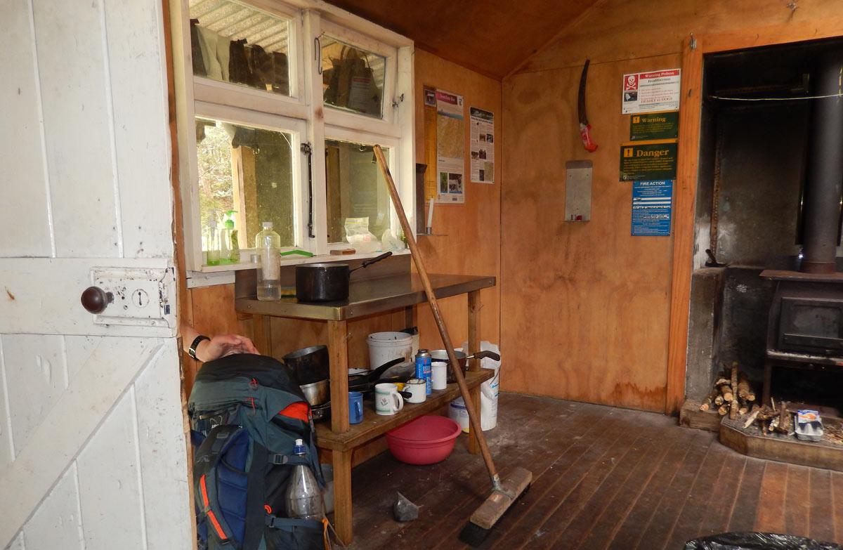 Interior Of Iron Gate Hut.