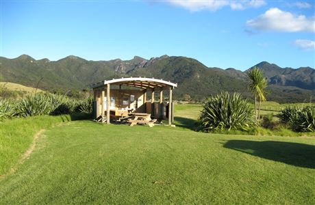 Whangapoua camp, Great Barrier Island.