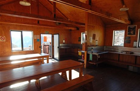 Dining area in Mueller Hut.