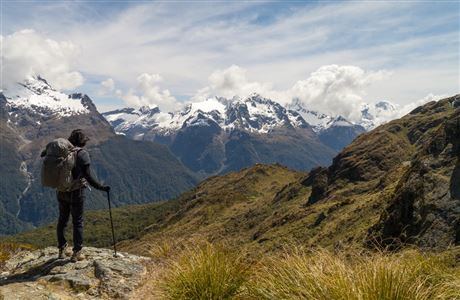 View of Southern Alps from Routeburn Track.