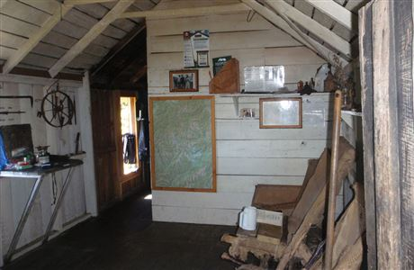 Inside Asbestos Cottage.