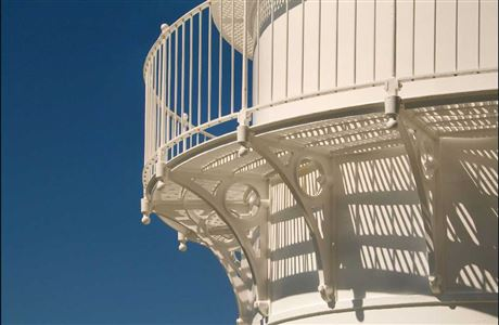 Detail of Cape Brett lighthouse.