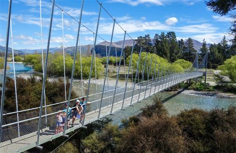 Children at Hawea River Butterfields Wetland Walk.