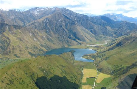Aerial view of Moke Lake.