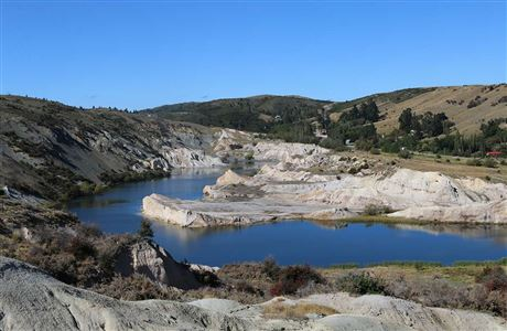 View of Blue Lake in St Bathans.