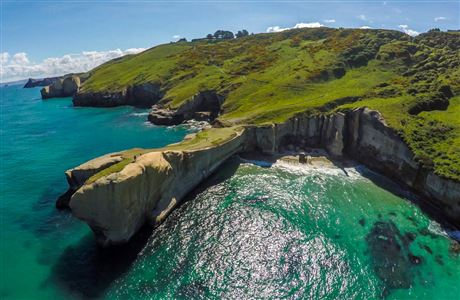 Tunnel Beach from above.
