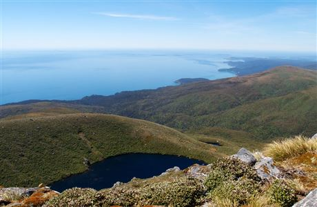 The view South East (towards Port William) from the summit of Mt Anglem. Image: James H. | CC BY-NC-ND 2.0.