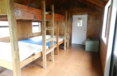 Bunk room in North Arm Hut.