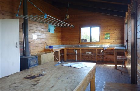 Cooking area in Maketawa Hut.