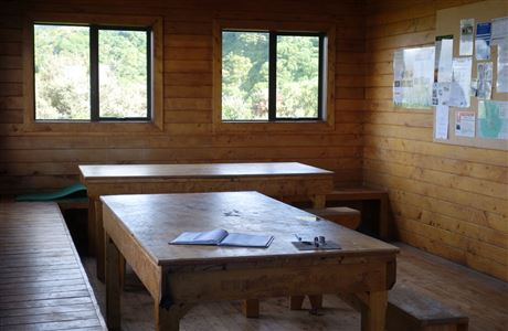Dining area in Maketawa Hut.