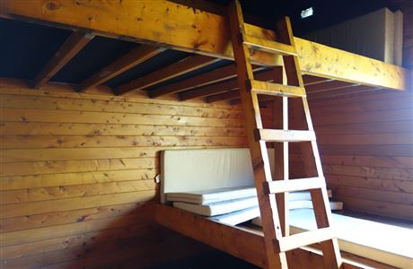 One of two bunkrooms in Maketawa Hut.