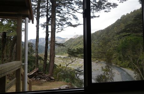 View to river from Turere Lodge.