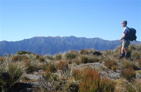 Tararua ranges from the summit of Kapakapanui.