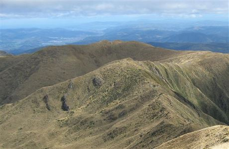 View from the Tararua Southern Crossing.