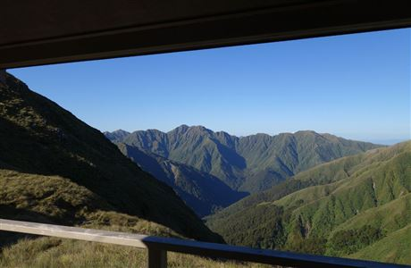 View from the deck of Tarn Ridge Hut.