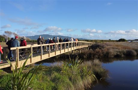 Waikanae Estuary bridge.