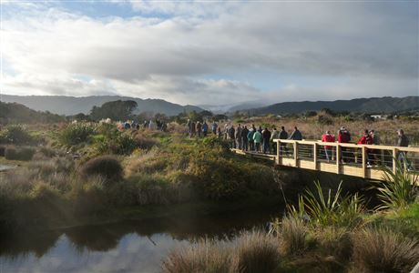People at Waikanae Estuary opening day - 2012.