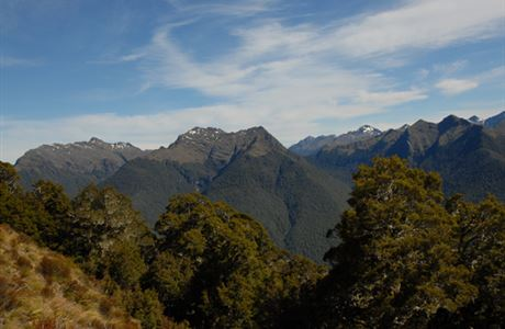View of the Victoria Range from the lower part of the Mt Haast Track.