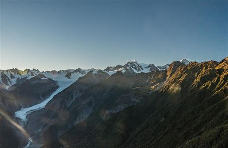 View of Fox Glacier and Southern Alps.