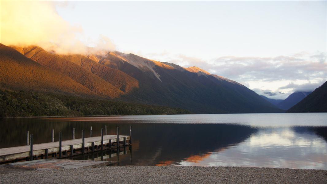 Kerr Bay campsite: Nelson Lakes National Park, Nelson/Tasman