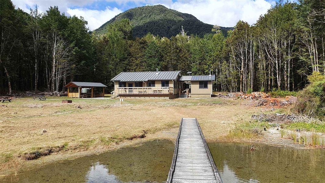 Popular hut rebuilt